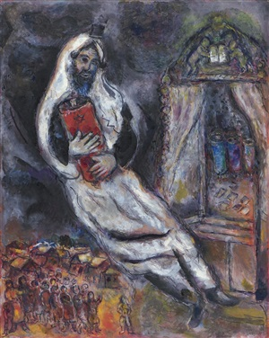 juif à la thora by marc chagall