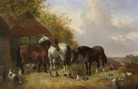 farmyard scene by john frederick herring the younger
