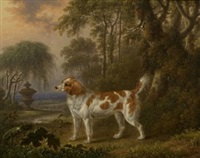 a marlborough spaniel by charles towne the younger