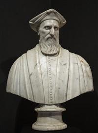 portrait bust of battista cicala zoaglio (1484-1565) senator of the most serene republic of genoa by giovanni antonio dosio