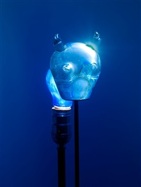 blue light by tony oursler