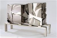 broken cabinet by maria pergay