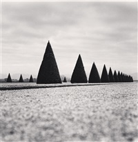 eighteen hedges, versailles, france, 1998 by michael kenna
