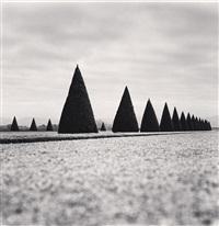 eighteen hedges, versailles, france, 1998 by michael kenna