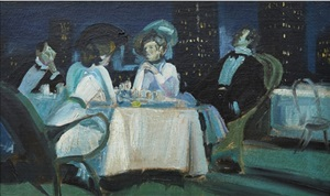 dinner sur le toit by charles hoffbauer