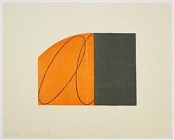 orange/black zone by robert mangold