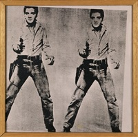 andy warhol – two elvis, 1964 by richard pettibone