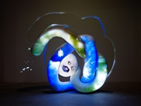 million miles (orbital screw) by tony oursler