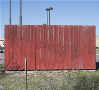 red fence by willis hartshorn