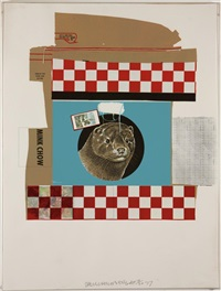 chow bag series by robert rauschenberg
