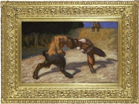 fighting fauns by franz von stuck