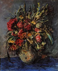 still life with flowers by ernst huber