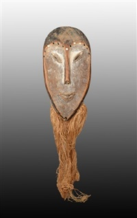 lega mask, congo by unknown