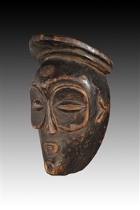 mbagani mask, congo by unknown