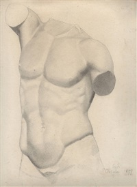 torse antique by georges seurat