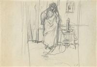madame hessel on the telephone by edouard vuillard
