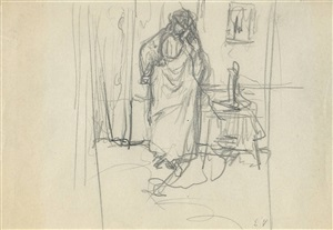 madame hessel on the telephone by edouard vuillard