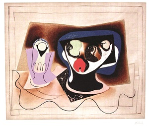 still life with compote by pablo picasso
