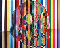 31 stripe color skull by victor rodriguez