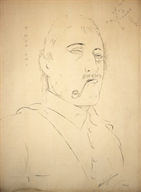 lot 218: portrait d'un homme by jeanne modigliani
