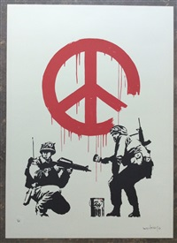 cnd soldiers (signed) by banksy
