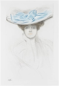 le nœud bleu (the blue bow) by paul césar helleu