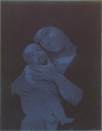 untitled (madonna with child) by gottfried helnwein