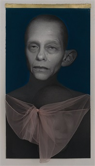 self portrait with bow by susan hauptman