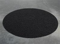 turbulence (black) by mona hatoum