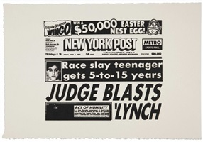 new york post (judge blasts lynch) (f/s cat. #iiia.46) by andy warhol