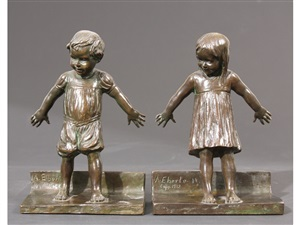 hide and seek bookends by abastenia st. leger eberle