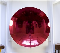 blood mirror by anish kapoor