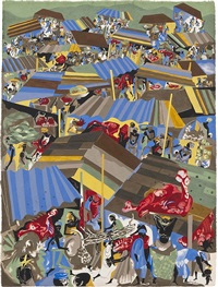 meat market by jacob lawrence