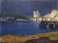 view of the seine by henry ossawa tanner