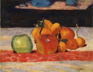 nature morte, fruits by pierre bonnard