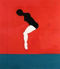woman jumping by joan brown