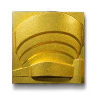 the solomon r guggenheim (metalflake/goldflake) by richard hamilton