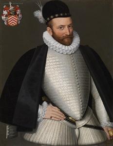portrait of joris van brakele lord of courteboishautrive and moorslede died in 1606 by gillis claeinssens