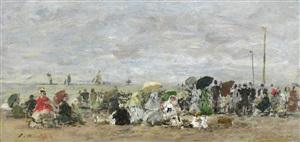 scene de plage by eugène boudin