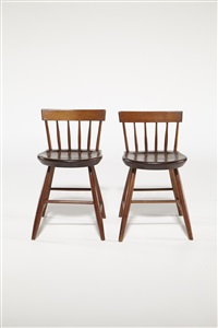 two dining chairs by shaker