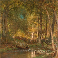 sunlight in the forest by worthington whittredge