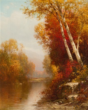 on the ausable river, essex county, ny by william m. hart