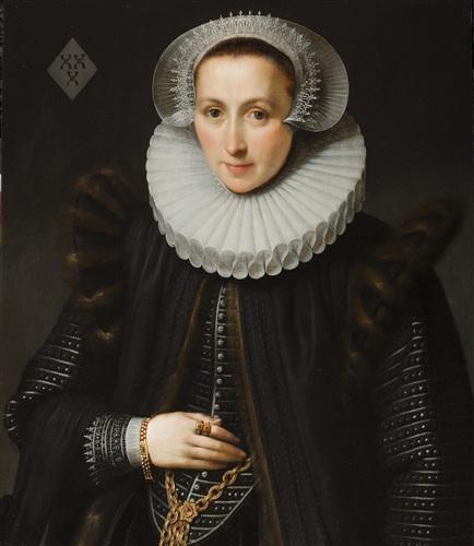 a marriage portrait of gellina van vlierden by gortzius geldorp