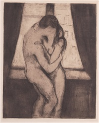 der kuss by edvard munch