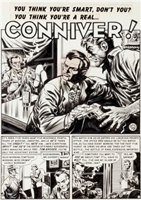 crime suspenstories #4 conniver complete 6-page story (ec, 1951) by jack davis