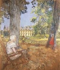 dans le parc au château des clayes by edouard vuillard
