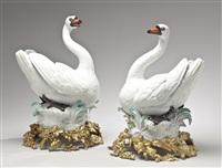 pair of swans by johann joachim kändler