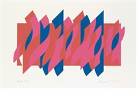 red red blue by bridget riley