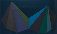 two asymmetrical pyramids: plate 3 by sol lewitt