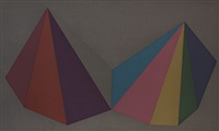 two asymmetrical pyramids: plate 4 by sol lewitt